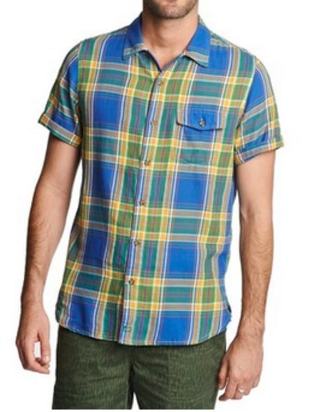 Woolrich Dobby Short Sleeve Plaid Shirt