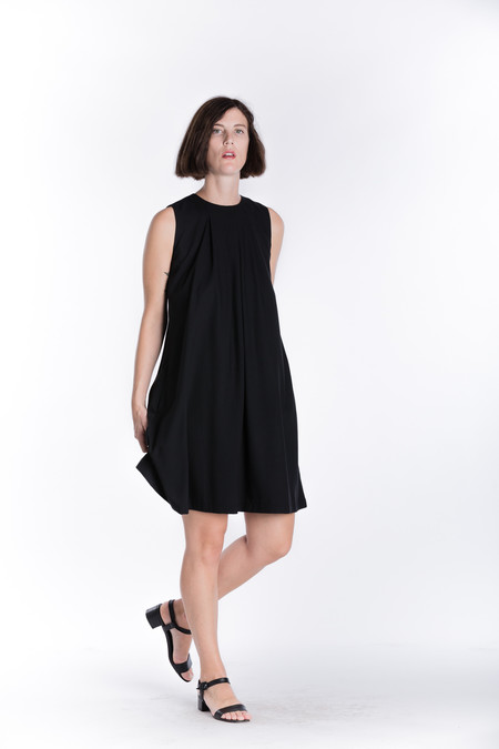 Wolcott : Takemoto Rayon Cooper Dress in Black