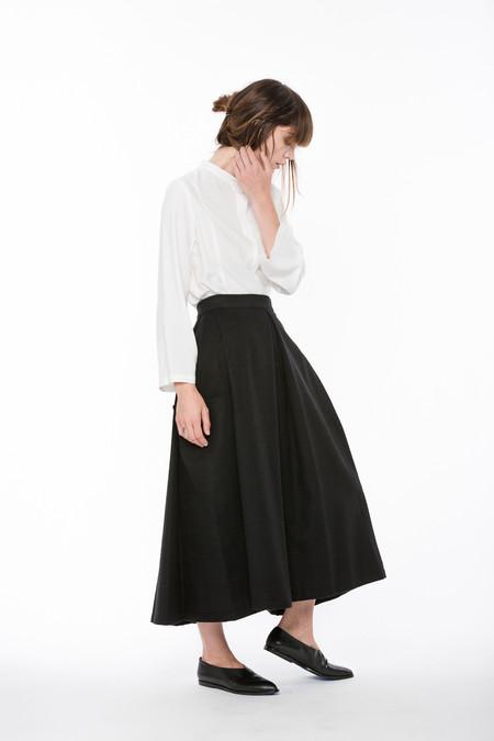 Wolcott : Takemoto Wool Gladys Skirt in Black