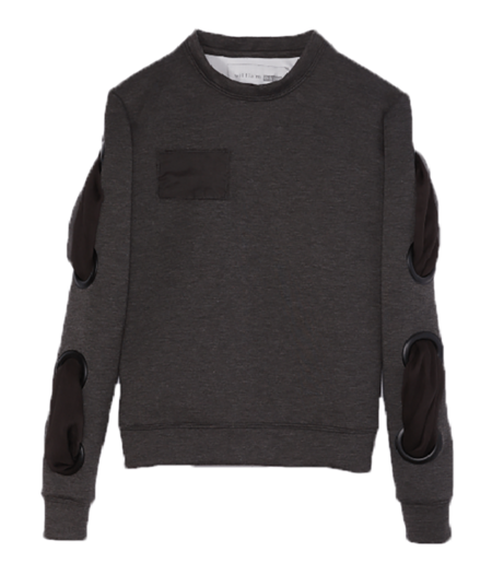 WILLIAM OKPO LENNY BOND SWEATSHIRT - CHARCOAL