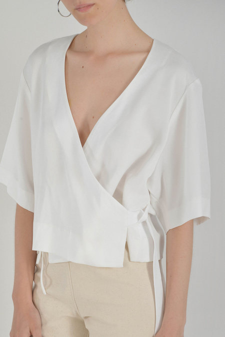 Waltz Kimono Wrap Top in Ivory