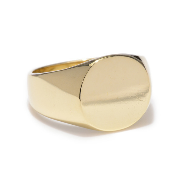 Tarin Thomas Yellow Bronze Frederick Signet Ring