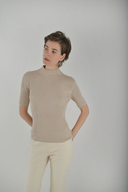 Either, And Vintage Chocolate Neapolitan Mockneck