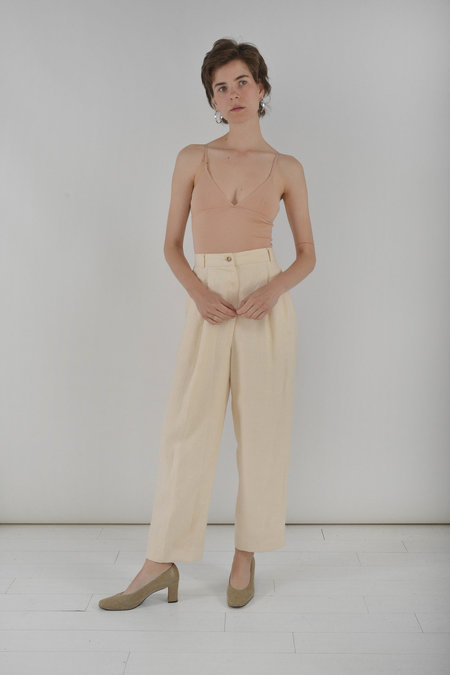Either, And Vintage Panna Linen Trousers