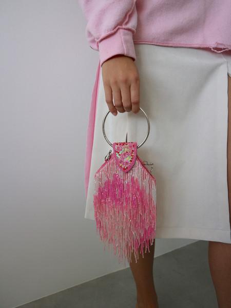 Vintage HOH Curate Beaded Fringe Bag