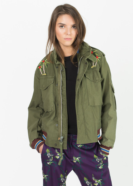 AS65 Embroidered Military Surplus Jacket - Olive