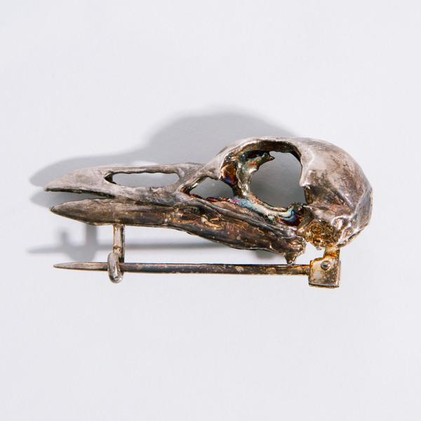 Alice Waese Silver Bird Skull
