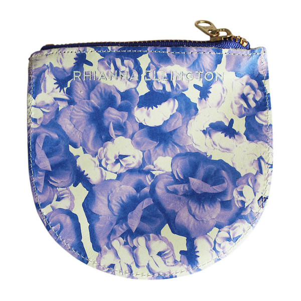 Rhianna Ellington Large Rose Print Leather Purse