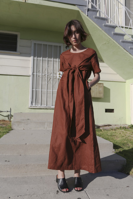 Shaina Mote Raku Dress in Clay