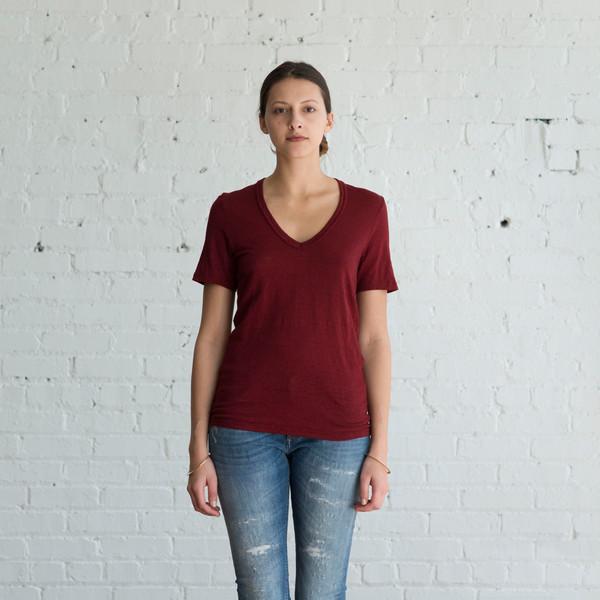 Isabel Marant Etoile Kranger V-Neck Rust $145