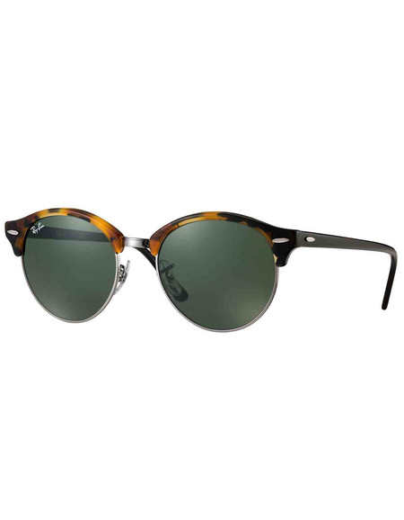 Ray-Ban Clubround Sunglasses Tortoise Green Classic G-15
