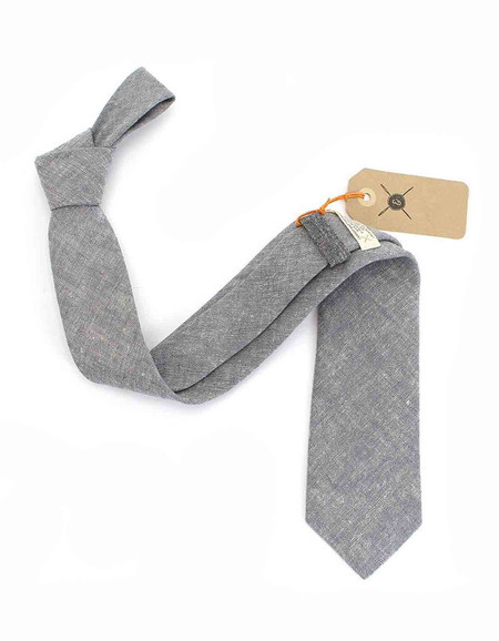 Cursor and Thread Salt and Pepper Neck Tie Dove Grey
