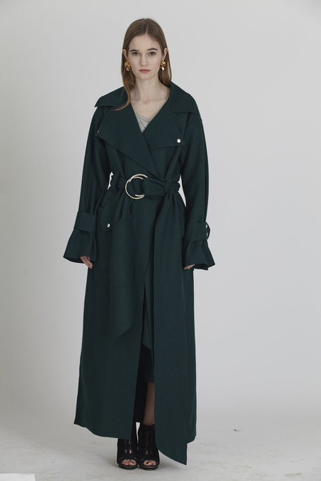 Urbanovitch Wool Belted Trench