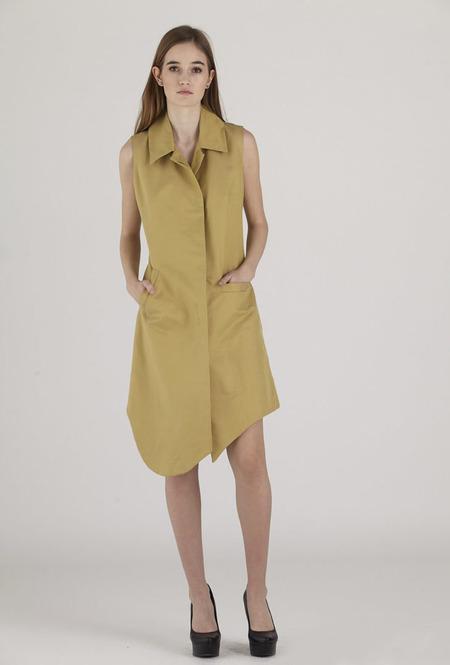 Urbanovitch Sleeveless Warp Coat Dress