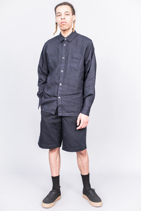 MHL Margaret Howell Minimal Shirt Shirting Linen Ink