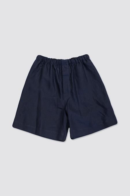MHL Margaret Howell Oversize Boxer Shorts Shirting Linen Ink