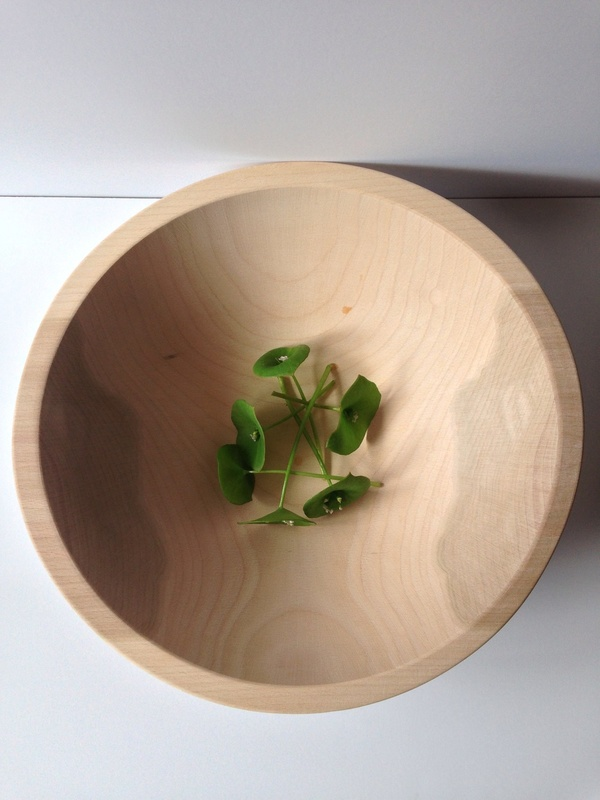 "Wind & Willow Home 12"" Beech Wood Bowl"
