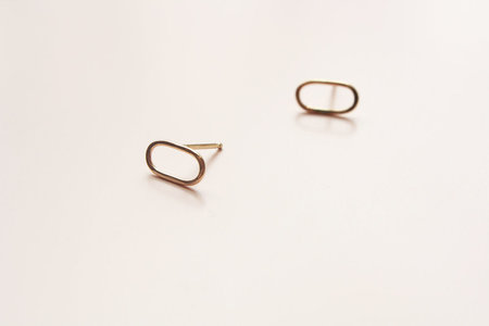 Melissa Joy Manning Oval Earscape Studs
