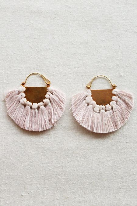 Hazel Cox solar earrings in oyster