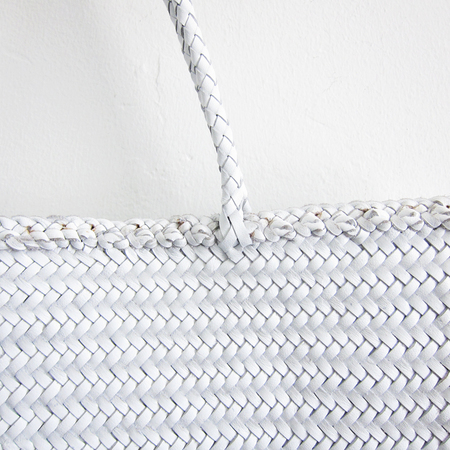 Dragon Diffusion Woven Leather Sophie Tote Bag - White
