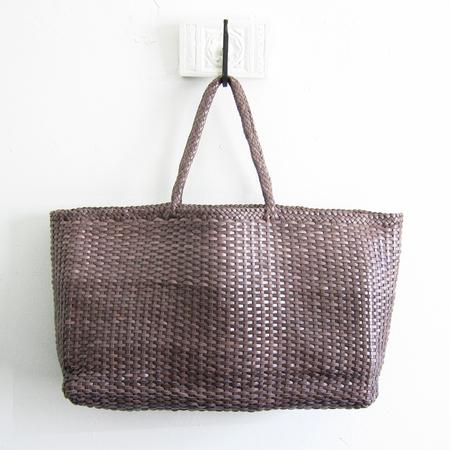 Dragon Diffusion woven leather shopper - cool grey