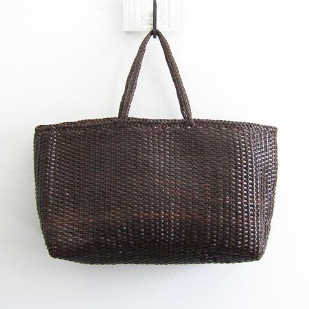 Dragon Diffusion woven leather shopper - dark brown