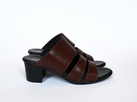 HOPP Three Strap Sandal - Brown Lizard