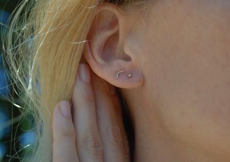 Rachel Gunnard Dot Earrings - 14k Gold