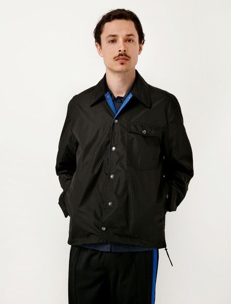 Our Legacy Cowboy Coach Jacket Black Groove Nylon