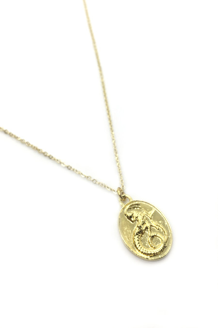 Talon Gold Capricorn Necklace