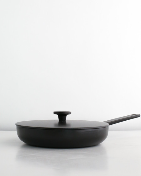 Crane Cookware Enameled Cast Iron Frying Pan - Black