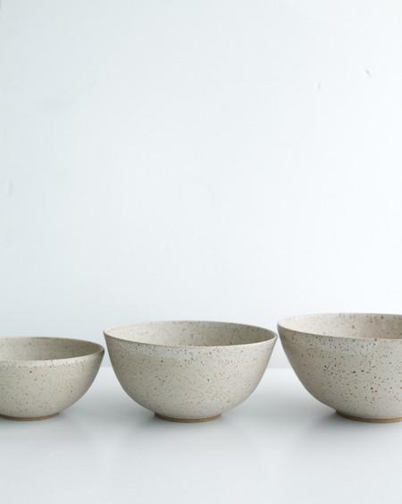 Yuko Pottery Speckled Stoneware Nesting Bowls