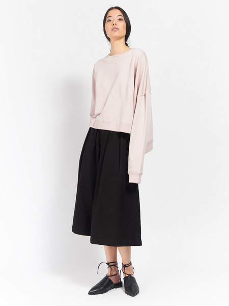 MM6 Maison Margiela Asymmetrical Sweatshirt Ballerina