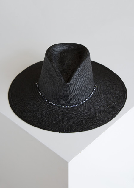 Clyde New Mexico Hat Black/Panama Straw