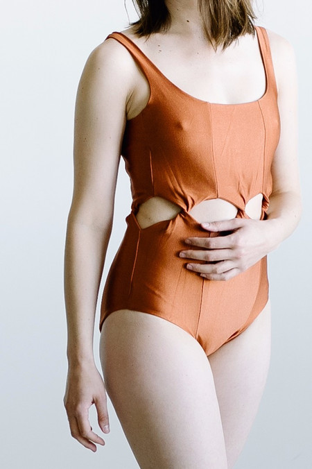 Samantha Pleet Tabernacle Swimsuit - Earth