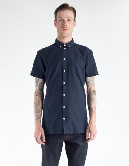 Minimum Bellino Short Sleeve Shirt Dark Navy
