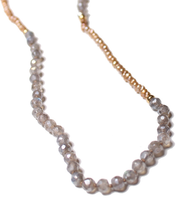 James and Jezebelle Labradorite Seed Pearl Necklace