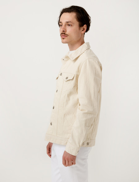 Niuhans Natural Dye Selvedge Jean Jacket - Ivory