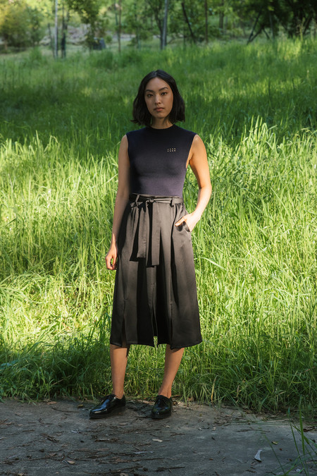 Kallmeyer Waterfall Slitted Midi Skirt
