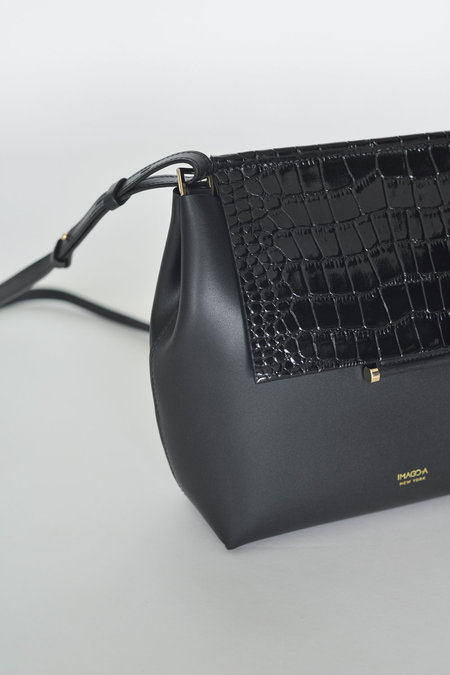 IMAGO-A Carré Shoulder in Noir Croc