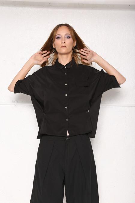 Intentionally Blank Alisha Button-Up -  Black