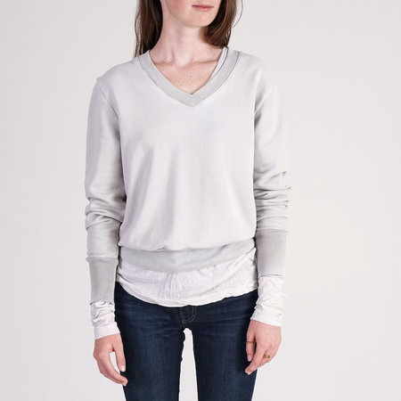 Cotton Citizen Milan Sweat Shirt - Silver Stone