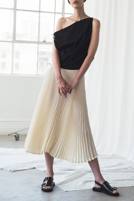 Shaina Mote Sol Pleated Skirt | Pearl