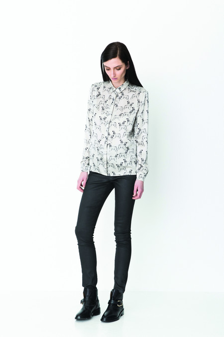 "Storm & Marie Storm and Marie ""Nadia"" Silk Printed Blouse"