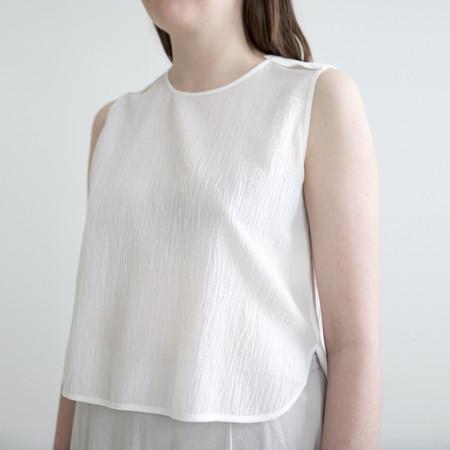 7115 by Szeki Crew Neck Crop Top - Off-White - SS17 Summer Edition