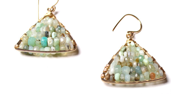 James and Jezebelle Peruvian Opal Paddle Earring