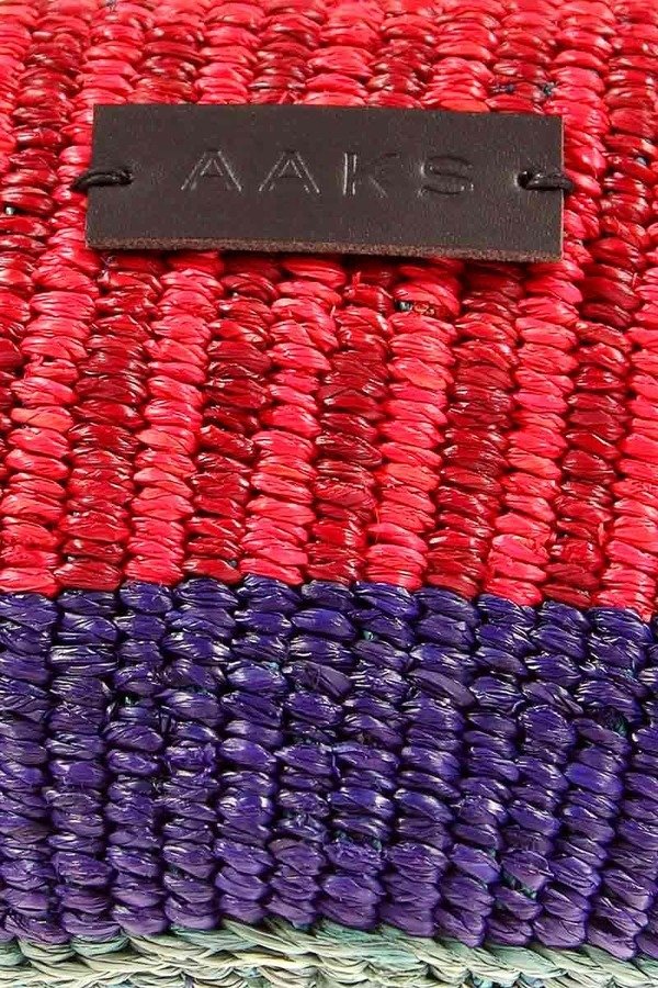 AAKS Handcrafted Are Raffia Clutch