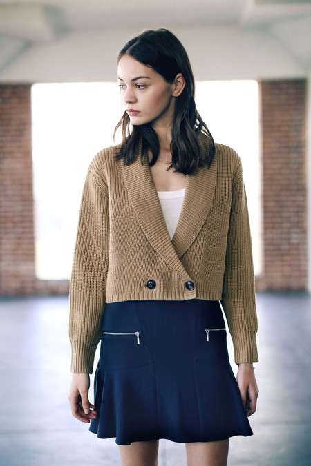 Cosette Louisa Cropped Cardigan Camel
