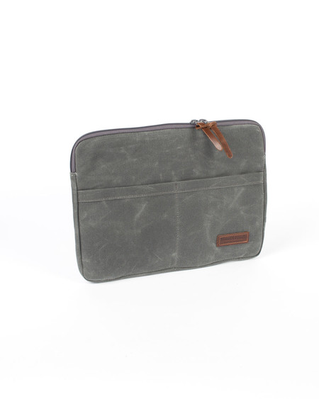 Wood&Faulk North Coast Grey Atlas Laptop Sleeve 13