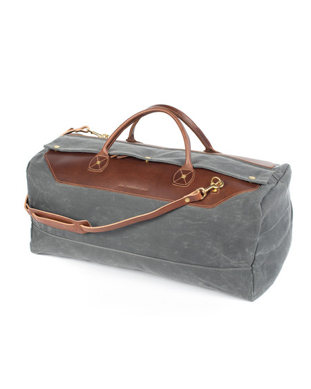 Wood&Faulk North Coast Grey Grand Tourer Weekend Bag